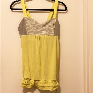 Like new lululemon workout tank with built in bra!